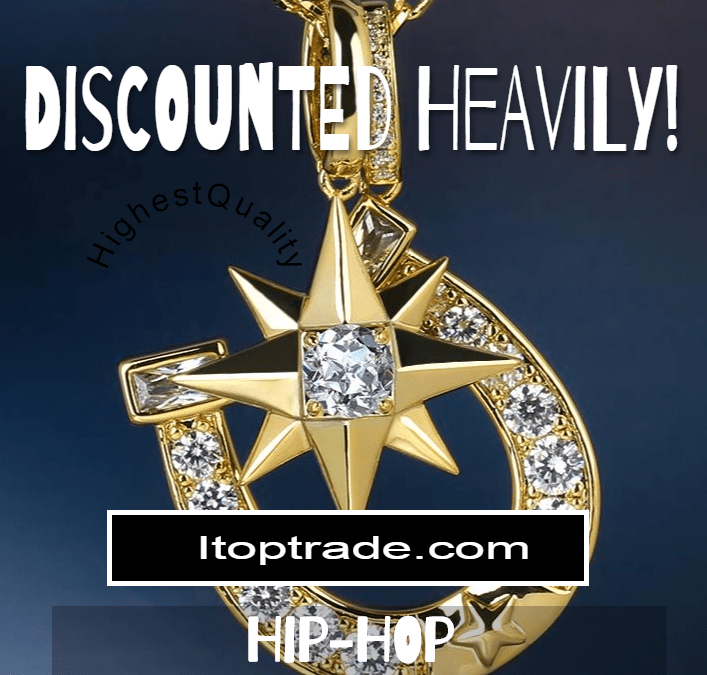 Compass Rose Cross-pendent in Gold and Diamonds