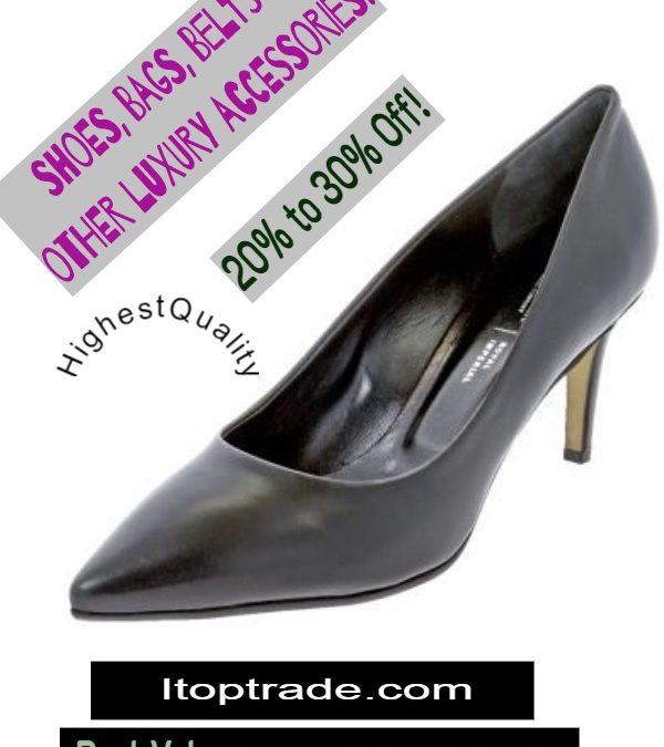 stylish heel shoe in black sold by itoptrade at 30 percent discount